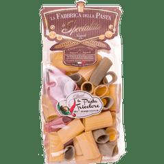 Macarrao-Italiano-Paccheri-Rigati-Tricolore-La-Fabbrica-Della-Pasta-Di-Gragnano-500g