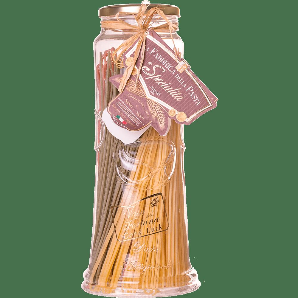 Macarrao-Italiano-Vaso-Da-Fortuna-Spaghetti-Tricolore-La-Fabbrica-Della-Pasta-Di-Gragnano-500g